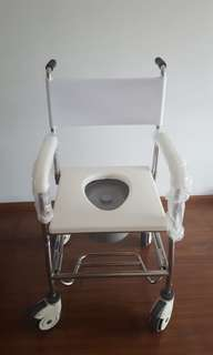 Rarely used commode, bucket never used