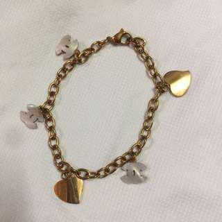 Stainless bracelet rosegold