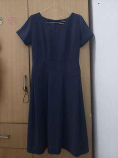 Long dress navy fit to L