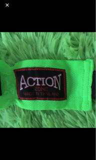 Action Neon Green Boxing Hand Wraps