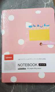 Miniso lined notebook