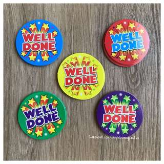 (New!) Well Done Student Reward Cards for Teachers