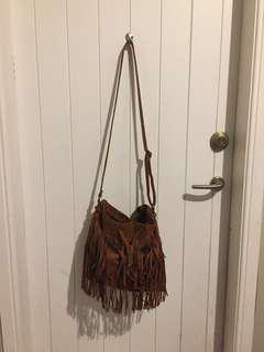 Brown tassel bag