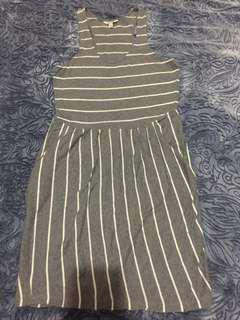 Repriced!!! Gray & White Stripe Dress