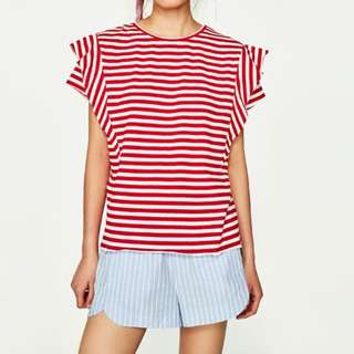 Zara Red Stripes T-Shirt