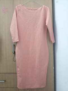 Long dress oranye peach