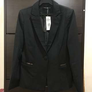 RUSH* Black Blazer (Corporate Attire)