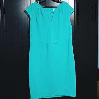 SALE! Bisou Bisou Teal Dress