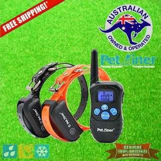 Petrainer PET998DBB-2 Remote Dog Training Collar Shock & Vibration for 2 Dogs