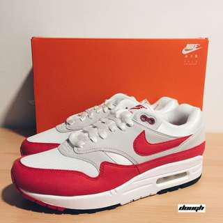 the latest f6ee9 f4ebd Nike Air Max 1 Anniversary Red (2017 2018 Restock Pair)