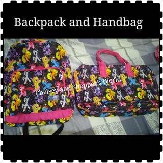 Handbag and Backpack
