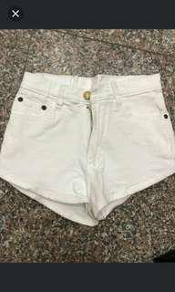AA Inspired Denim White Highwaisted Shorts #MidSep50