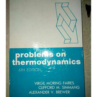 Problems On Thermodynamics 6th ed Simmang Faires Brewer