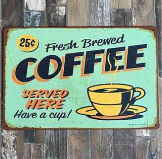 Vintage Tin Plates, Coffee Series, A4