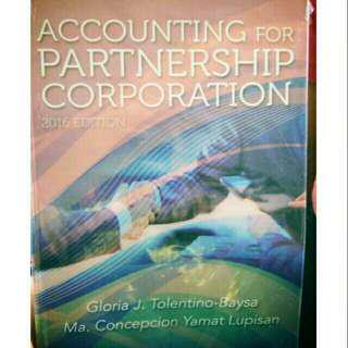 Accounting For Partnership And Corporation Lupisan Tolentino-Baysa
