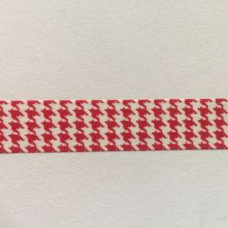 Red Houndstooth Pattern QCR9 Washi Tape 15mm x 10m