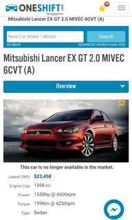 Lancer Ex GT 08 CY4A dekit