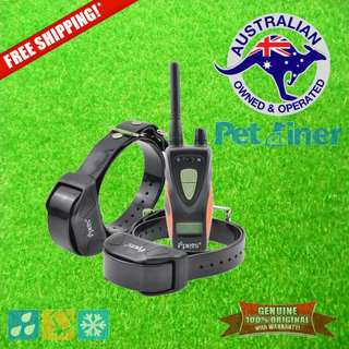Petrainer PET617R-2 Remote Dog Training Collar Shock & Vibration for 2 Dogs