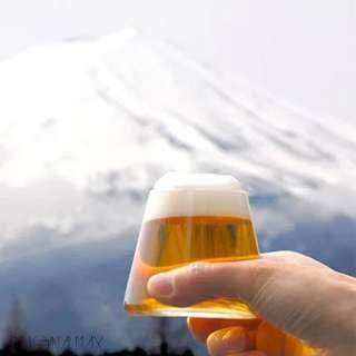 日本富士山玻璃啤酒杯Fujiyama木盒精裝🍺