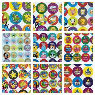 (Instock) Cute Student Reward Stickers for Teachers