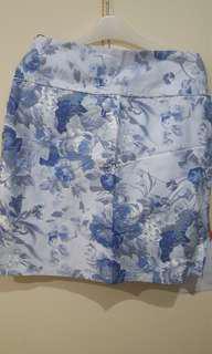 Blue Flower Skirt (Rok Biru Motif Bunga)