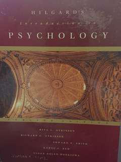 Hilgard's Introduction to Psychology Textbook (Hardbound)