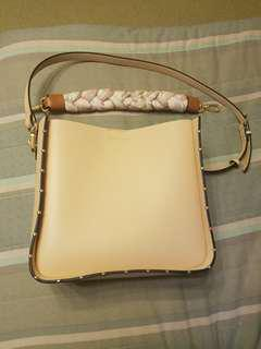 Charles & Keith Beige handbag with long strap