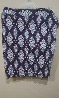 Purple Skirt Geometric (Rok Ungu)