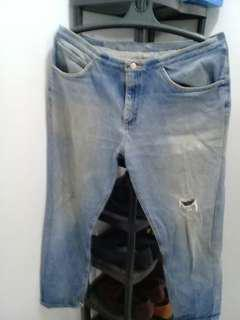 Imported Ripped jeans classic cut for men- size 36