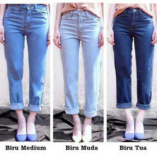 Celana boyfriend plain (jeans)