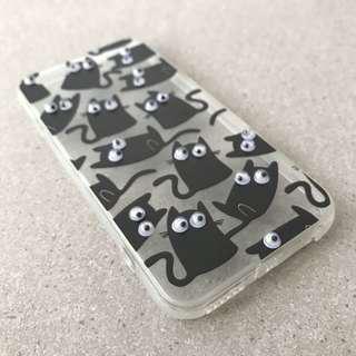🚚 Googly Eyes Black Cat iPhone Case