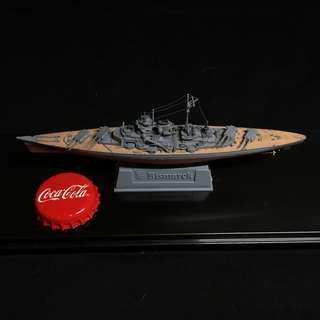 German Battleship Bismarck 1/2000 Finished in Display Case