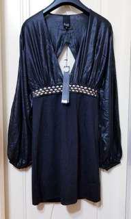 Faith Connexion 晚裝 裙 黑色 貴氣 時尚 性感 高貴 優雅  全新 S 碼 有掛牌 ((只得一件)) 正版 ,現只係一折價出售