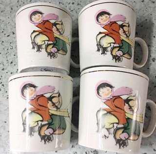 Vintage Porcelain Cups