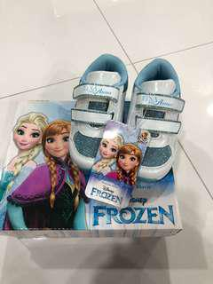 Frozen Shoes disney bought in europe, size 22 for 1 yr 2 yr old girls shoes brand new with box