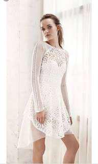 Thurley white formal lace dress
