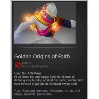 Golden Origins of Faith (Dota 2 Immortal)