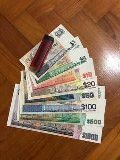 新加坡旧纸币