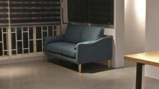 Brand new nordic style blue grey two seater sofa