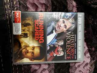 Dvd set collection A History of violence and running scared