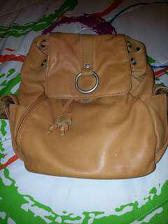 Real leather back pack. Small/med