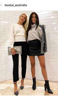 Kookai Black Leather Skirt (SOLD OUT) $RRP: $220