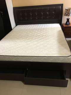 Divan with Queen Mattress Katil Bed