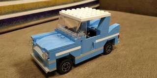 Lego 4841 blue car Harry Potter train