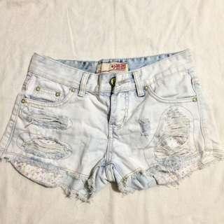 Lightwashed Denim Shorts