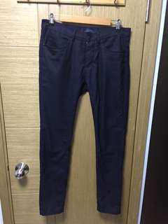 Zara深藍色 窄腳西褲 31吋腰 40吋長