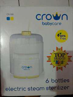 JUAL BABYCARE CROWN 6 BOTTLES ELECTRIC STEAM STERILIZER