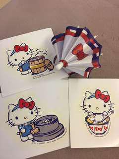 3 Hello Kitty Stickers only