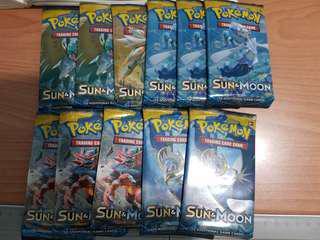 Pokemon Sun & Moon Packs