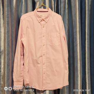 Baleno long sleeve pink shirt size m 99% new